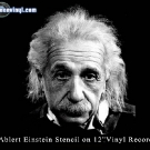 Source image for Albert Einstein stencil art