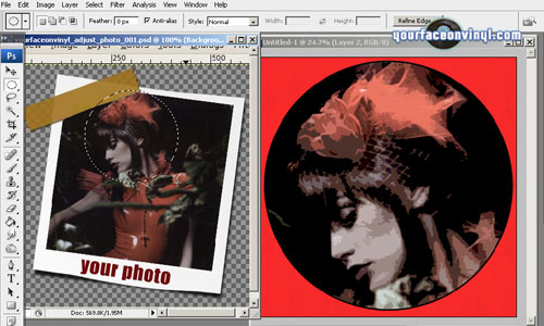 Image showing stencil art from photo process