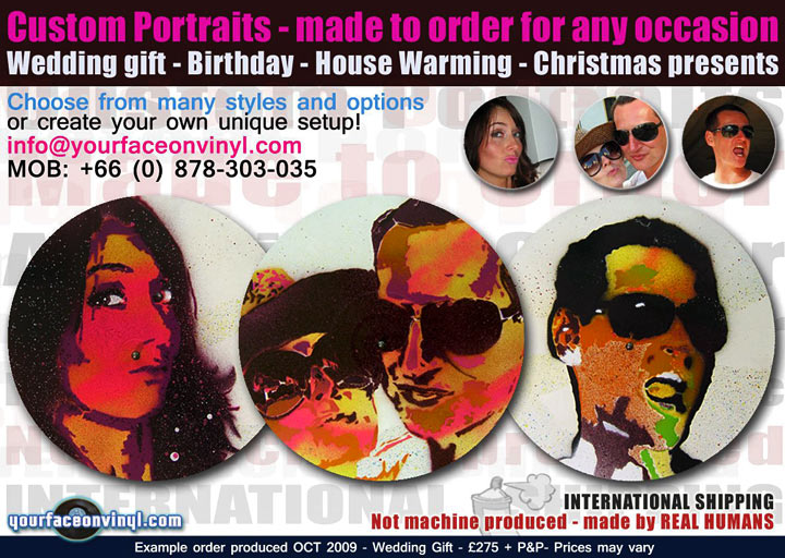 buy Photo to vinyl art stencil art portrait, street style custom order