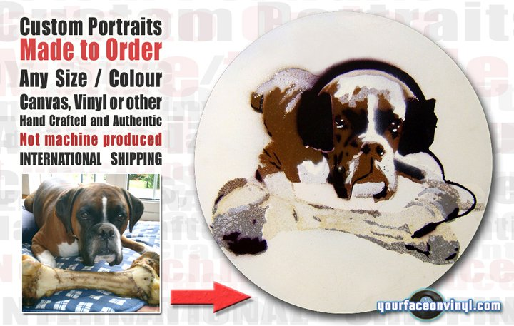 pictures from photos art dog portrait stencil