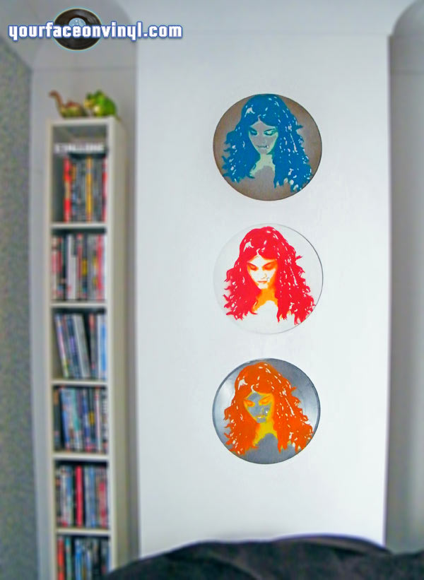 art vinyl portrait stencil records customer order display
